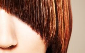 Картинка волосы, нос, hair, чёлка