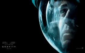 Обои космонавт, скафандр, гравитация, george clooney, gravity, джордж клуни