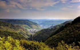 Обои пейзаж, природа, фото, Германия, горизонт, Cochem