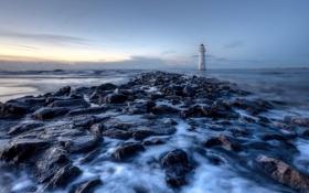 Картинка lighthouse, movement, perchrock, hightide