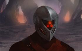 Картинка человек, шлем, art, Star-Lord