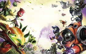 Обои Electronic Arts, PopCap, Plants vs Zombies Garden Warfare