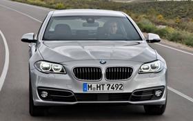 Картинка машина, фары, бмв, BMW, передок, Sedan, 535i
