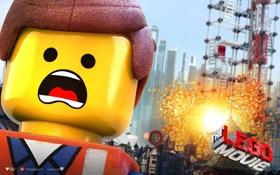 Обои взрыв, lego, лего, lego movie, лего. фильм
