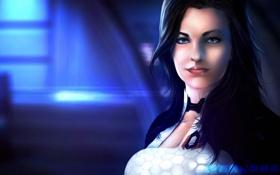 Картинка девушка, арт, Miranda Lawson, Mass Effect, цербер