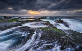 Картинка камни, побережье, прибой, Australia, Sydney, Тасманово море, Tasman Sea