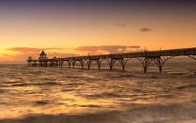 Картинка мост, океан, United Kingdom, Avon