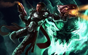 Обои League of Legends, Lucian, the Purifier, Guardian of light