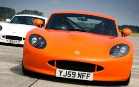 Обои Дорога, Машина, Оранжевый, Машины, Orange, Car, Автомобиль