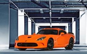 Обои car, Dodge, supercar, Viper, orange, SRT