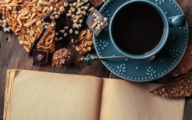 Обои coffee, beans, chocolate, кофе, шоколад, чашка, cup