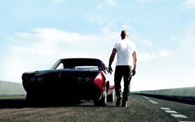 Обои Вин Дизель, Dominic Toretto, Форсаж 6, The Fast and the Furious 6, Vin Diesel