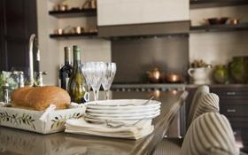 Обои дизайн, дом, стиль, комната, интерьер, кухня