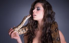 Картинка лицо, портрет, змея, поцелуй, Cecilia Antoinette W
