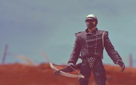 Обои Mad Max II, игрушки, арбалет, Bad Cop