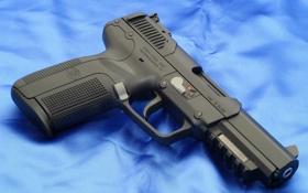 Обои pistol, blue, 7mm, Pistol FN Herstal Pistol cal. 5