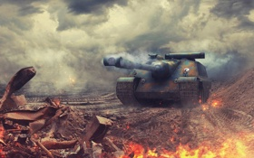 Обои Франция, танк, танки, France, WoT, Мир танков, tank