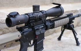 Обои оптика, штурмовая винтовка, прицел, AR-15, оружие
