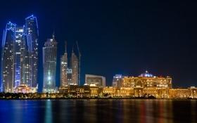 Картинка Abu Dhabi, nightscape, Jumeira Etihad Tower
