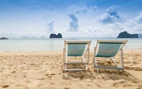Картинка песок, море, пляж, солнце, океан, берег, summer