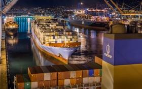 Картинка ship, port, cargo