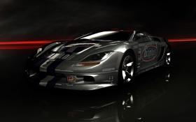 Картинка машина, поверхность, отражение, спортивная, Ridge Racer 6
