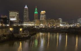 Картинка city, город, USA, Кливленд, Ohio, Cleveland
