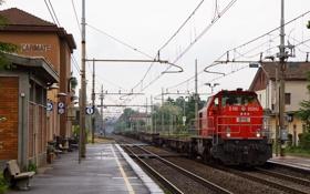 Картинка поезд, станция, платформа