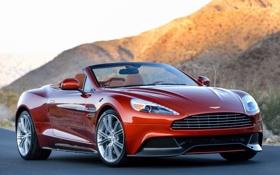 Обои Aston Martin, кабриолет, передок, Астон Мартин, Ванкуиш, Vanquish, Volante
