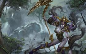 Обои девушка, бог, арт, hon, art, богиня, Heroes of Newerth