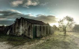 Картинка пейзаж, дом, утро