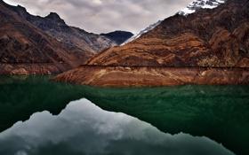 Картинка вода, горы, гора
