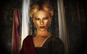 Обои девушка, замок, Skyrim, Chiara Avento I
