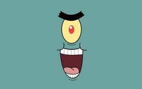 Обои SpongeBob, мультсериал, Шелдон, Планктон, Plankton
