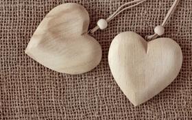 Картинка любовь, сердечки, love, wood, romantic, hearts, cloth