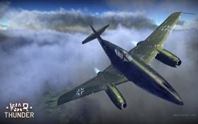 Картинка небо, истребитель, бомбардировщик, самолёт, реактивный, немецкий, WW2