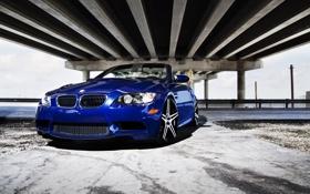 Обои дорога, синий, мост, бмв, BMW, blue, E93