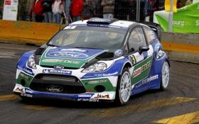 Обои Ford, Спорт, Машина, Капот, Фары, ралли, WRC