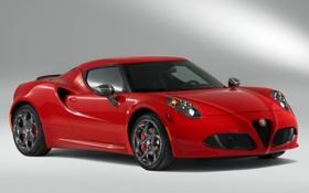 Картинка фары, Alfa Romeo, автомобиль, передок, Launch Edition, красный