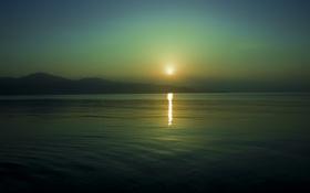 Обои небо, вода, солнце, отражение, фото, фон, обои