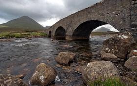 Картинка пейзаж, река, мост