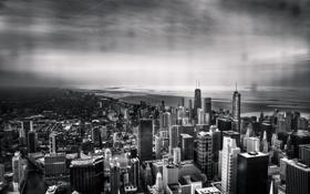 Обои Чикаго, Мичиган, Небоскребы, Здания, Высота, Америка, Иллинойс