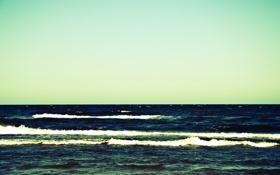 Картинка море, волны, небо, вода, пейзаж, природа, waves