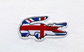 Обои Great Britain, крокодил, flag, Lacoste, Великобритания, флаг