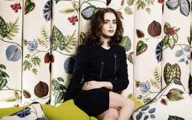 Картинка фотосессия, Lily Collins, The Times
