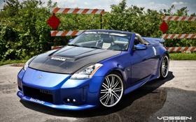 Обои Nissan, 350Z, кузовное ателье, тюнинг ателье, sebon, vossen wheels, VeilSide