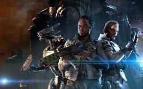 Картинка оружие, робот, нож, солдаты, команда, Меха, бойцы