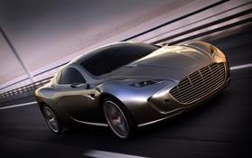 Картинка Aston Martin, Машина, Капот, Фары, Gauntlet, Купэ, Спорткар