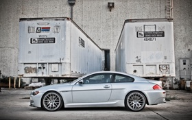 Обои silvery, серебристый, e63, рефрижераторы, wheels, bmw, купе