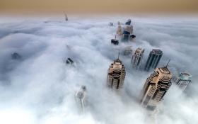 Обои пейзаж, город, облока